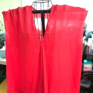 Ralph Lauren coral blouse